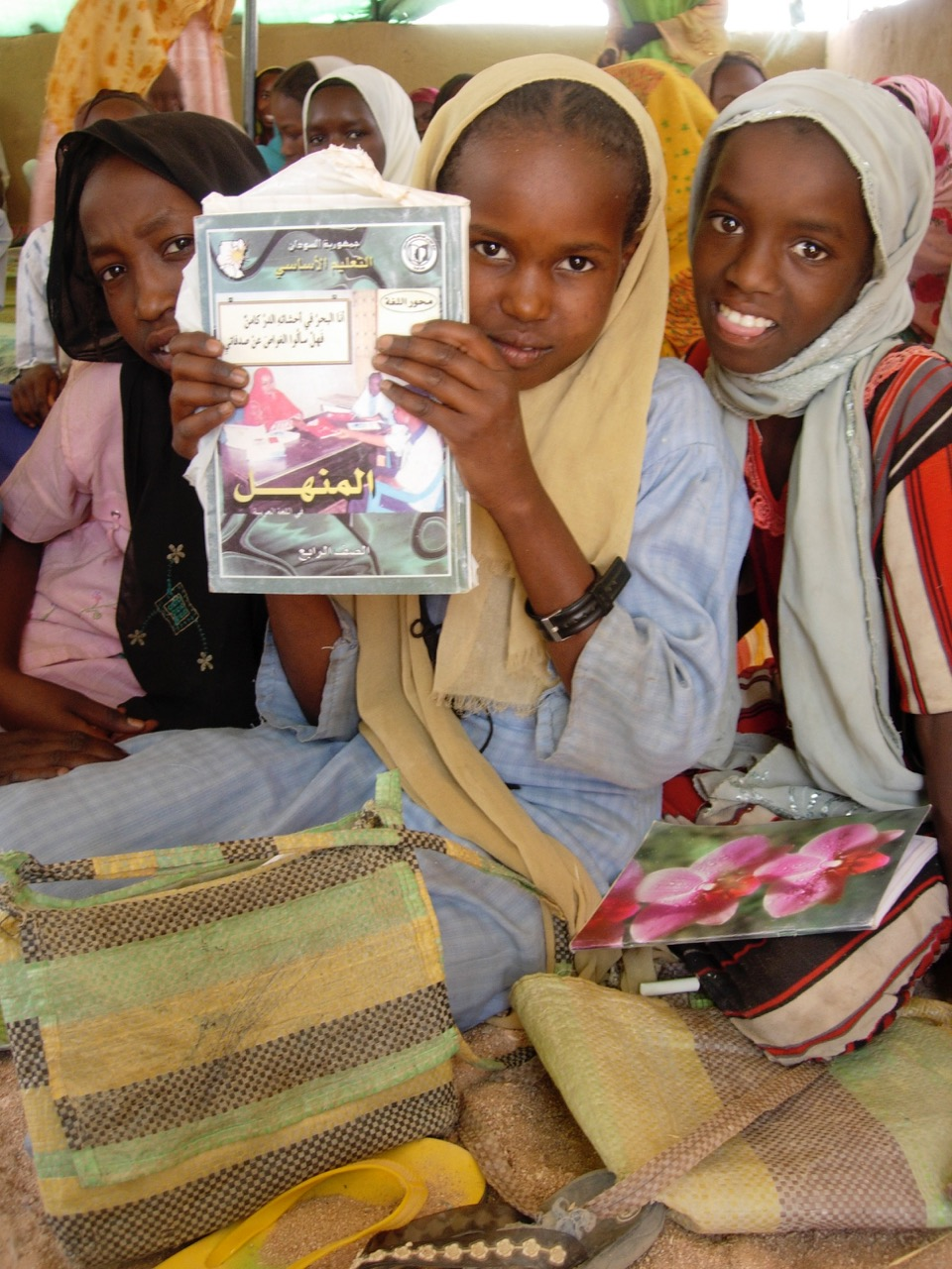 Darfuri school girls at the REACT supported Am Nabak refugee camp in Eastern Chad